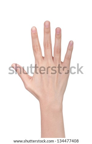 conceptual picture of hand with bracelet trying to catch the light that come from the background - stock photo