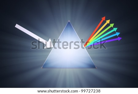 Conceptual prism illustration - creativity concept - stock photo