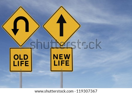 Conceptual road sign about change or choices