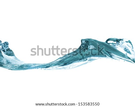 conceptual splashing water or beverage, ocean or a river - stock photo