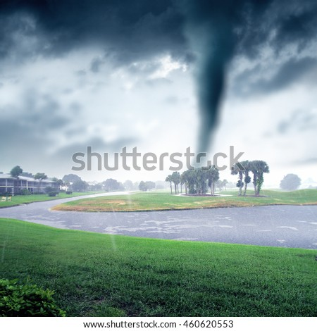 conceptual storm image of approaching tornado.