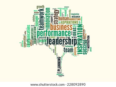 Conceptual text word cloud or tagcloud isolated on white background, metaphor for business, team, teamwork, management - stock photo