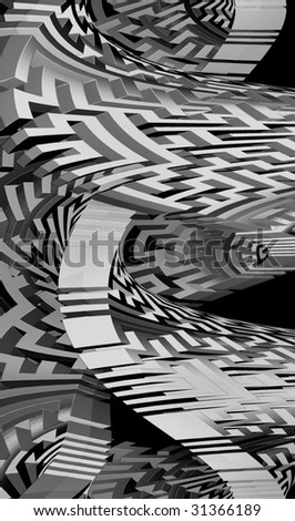 conceptual three-dimensional abstract graphic background illustration - stock photo
