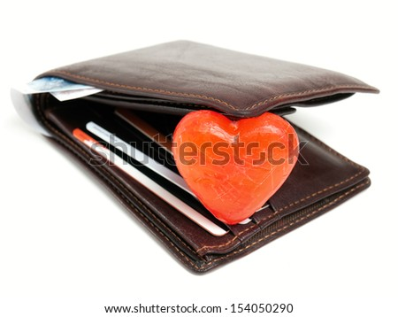 Conceptual view about human love to money. - stock photo