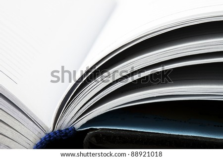 Conceptual White Pages of the opened book