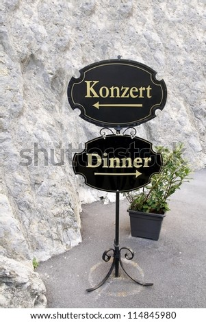 Concert and dinner - stock photo