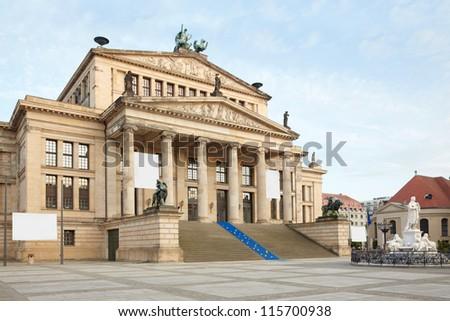 Concert hall, Gendarmenmarkt in Berlin - stock photo