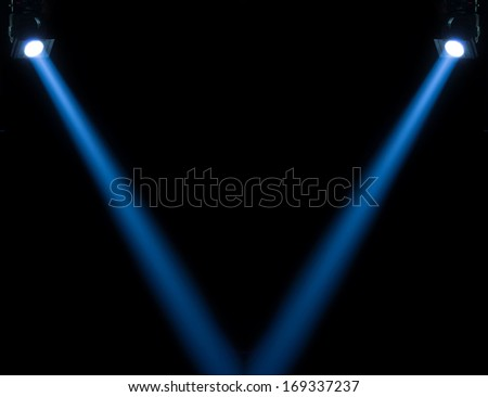 concert lighting against a dark background