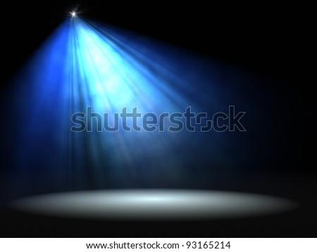 Concert lighting against a dark background. Illustration. - stock photo