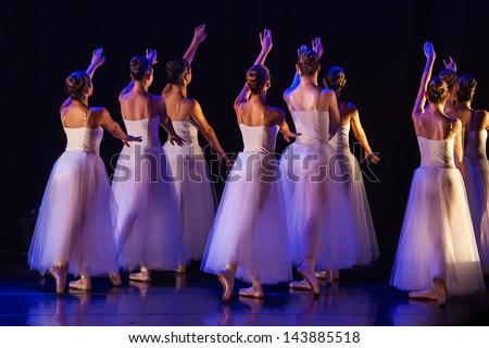 concert of the School of Ballet - stock photo