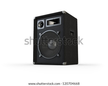 Concert speakers on white background. Computer generated image. - stock photo