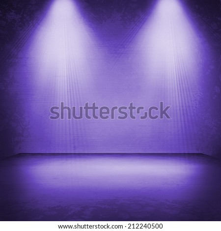 concert spot lighting over dark background. Christmas  - stock photo