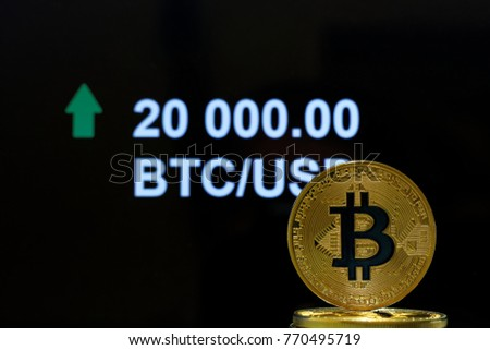Concet Bitcoin Stock Market Price Going Stock Photo Edit Now