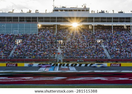 Concord, NC - May 24, 2015:  The NASCAR Sprint Cup Series teams take to the track for the Coca-Cola 600 at Charlotte Motor Speedway in Concord, NC.