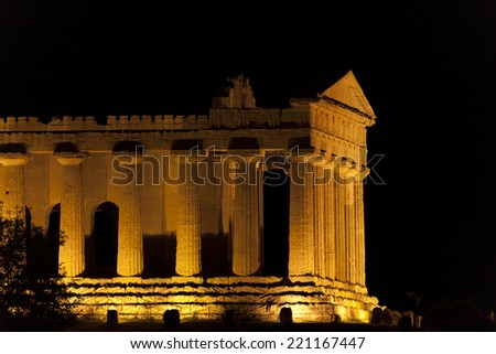 Concord Temple, Agrigento, Sicily, Italy