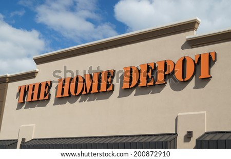 CONCORDVILLE, PENNSYLVANIA - June 14, 2014: The Home Depot store entrance sign.  The Home Depot is a retailer of home improvement and construction products and services.