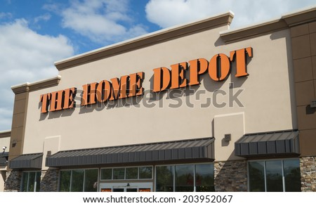 CONCORDVILLE, PENNSYLVANIA - June 14, 2014: The Home Depot storefront.  The Home Depot is a retailer of home improvement and construction products and services.