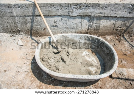 concrete and plaster mix tray