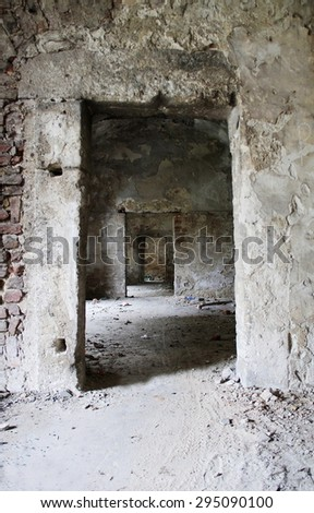 concrete arch tunnel - stock photo
