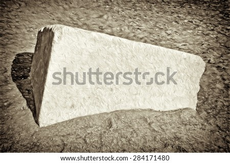 concrete block  - illustration based on own photo image