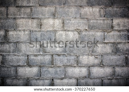 Concrete block wall background, brick wall texture