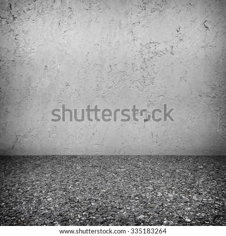 Concrete brick walls and floor for text and background - stock photo