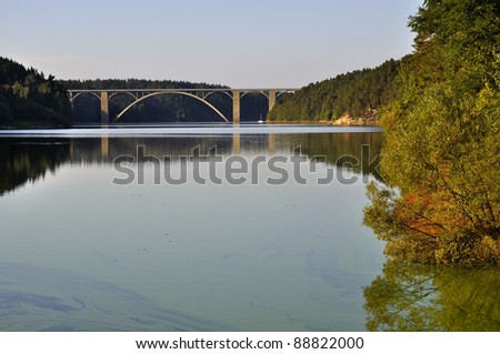 Concrete bridge in the South Bohemian - stock photo