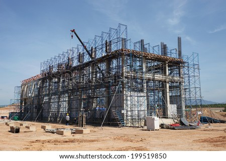 Concrete building of gas insulated switchgear under-construction