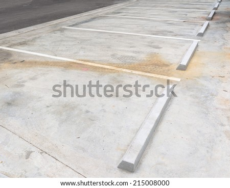 concrete car park vacant in parking area - stock photo