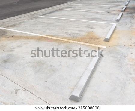concrete car park vacant in parking area - stock photo