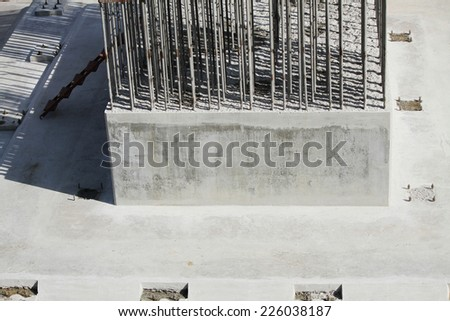 Foundation construction stock images royalty free images for Concrete pillars for foundation