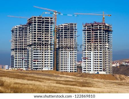 Concrete Construction site - stock photo