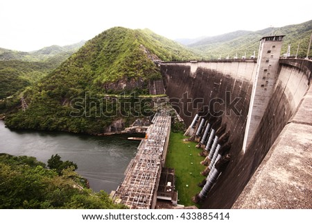 Concrete dam wall of  power plant