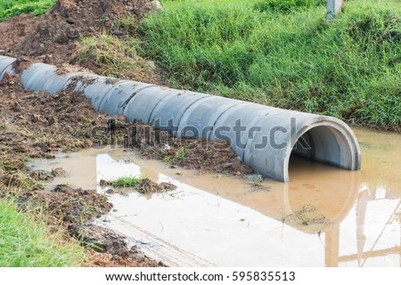 Dirty ditch stock images royalty free images vectors for One pipe drainage system