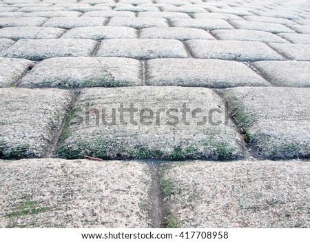 Concrete floor striped square for background - stock photo