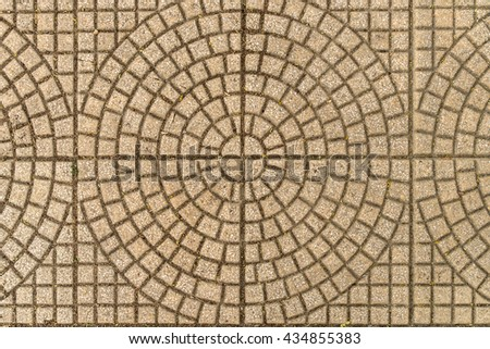 Concrete floor with pattern stamp texture