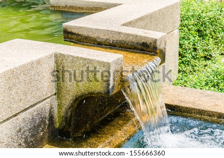 Concrete gutter for overflow, Thailand - stock photo