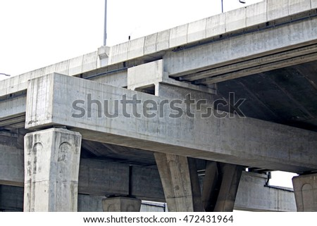 Concrete highway structure