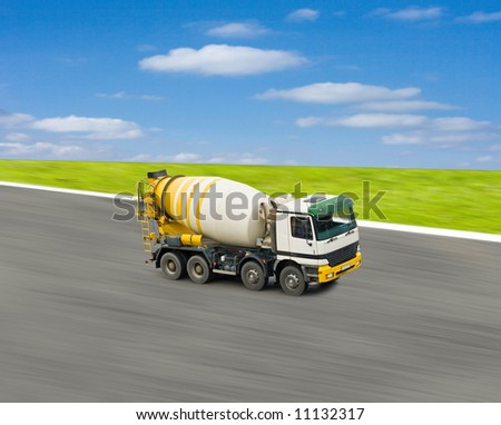 concrete mixer - stock photo