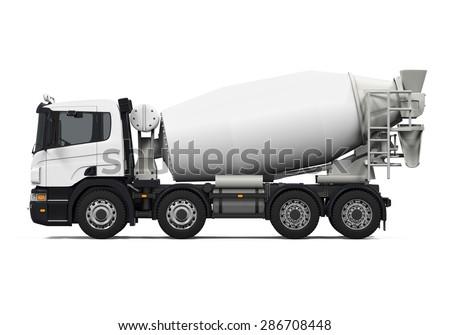 Concrete Mixer Truck - stock photo