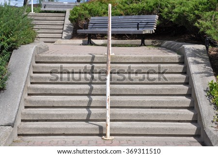 Concrete outdoor stairs - stock photo