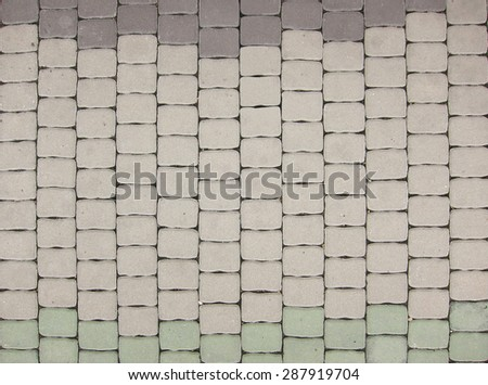 concrete paving pattern                     - stock photo