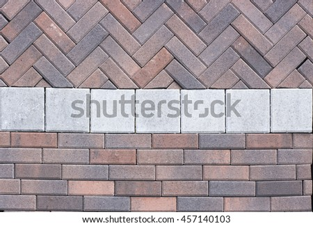 Concrete paving slabs like to advertise background texture
