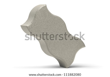 Concrete paving stone wave