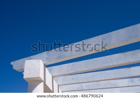 concrete pergola elements