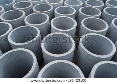 Concrete pipe - stock photo