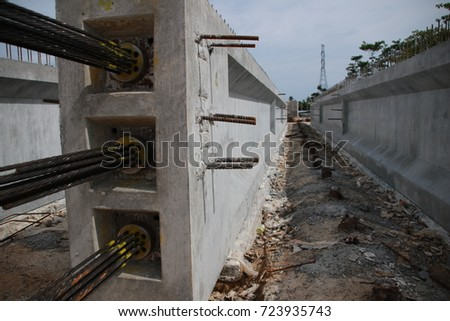 concrete reinforced beams prestressed concrete bridge girdes post tensioned