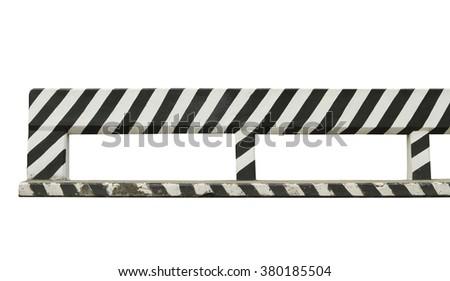 Concrete road fence isolated on white background - stock photo