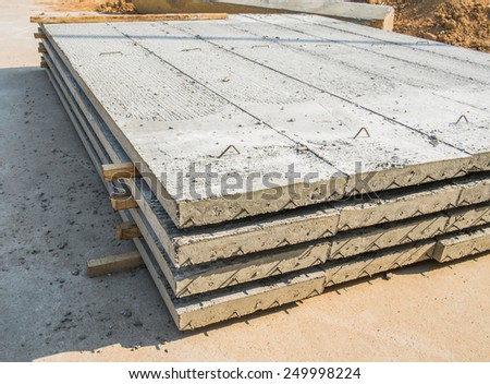 concrete slab outdoor at construction site