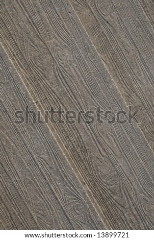 concrete stair with wooden texture - stock photo